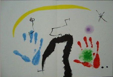 Lithograph Miró -  Couleurs a l'improviste