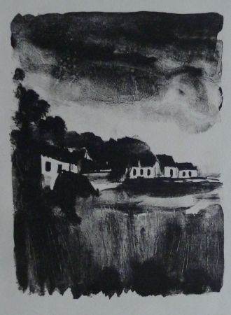 Lithograph Vlaminck - Country Houses