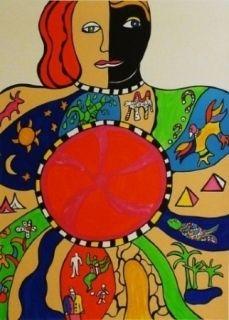 Lithograph De Saint Phalle - Couple