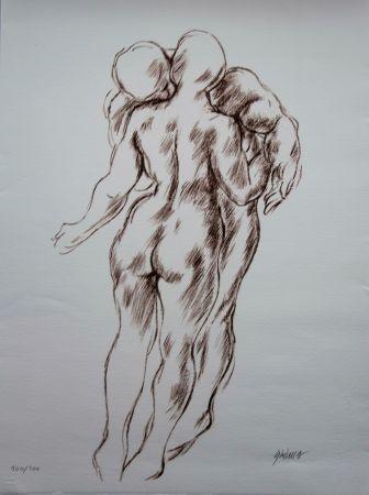 Lithograph Olovson - Couple