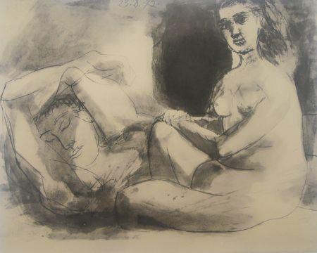 Lithograph Picasso - Couple