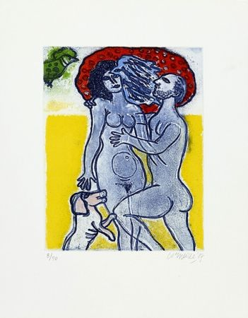 Etching Corneille - Couple de l'été