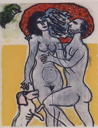 Aquatint Corneille - Couple de l'ete