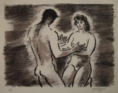 Lithograph Masereel - Couple de nus