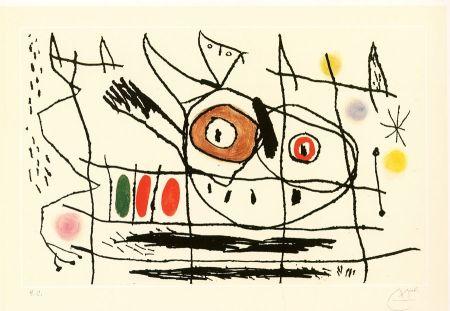 Etching And Aquatint Miró - Couple d'oiseaux