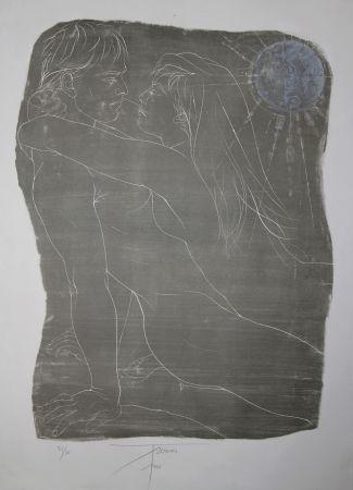 Lithograph Trémois - COUPLE ENLACE / INTERTWINED COUPLE - Lithographie Original / Original Lithograph