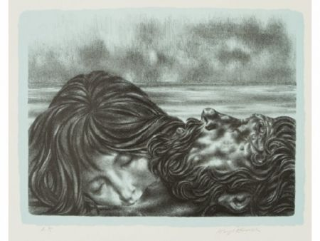 Lithograph Hirsch - Couples (includes