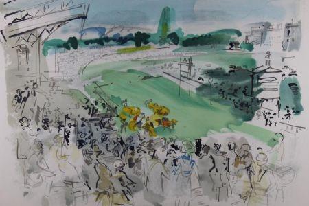 Lithograph Dufy - Courses À Deauville