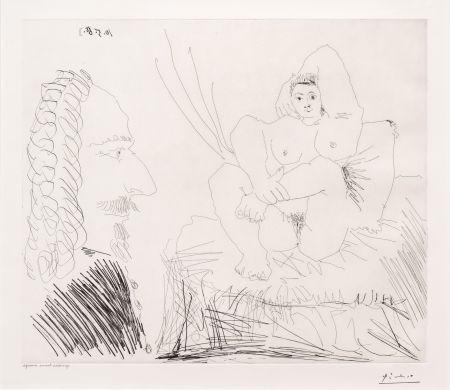No Technical Picasso - Courtisane au Lit avec un Visiteur