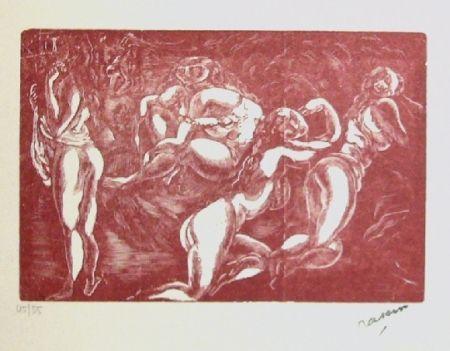 Woodcut Pascin - Courtisanes