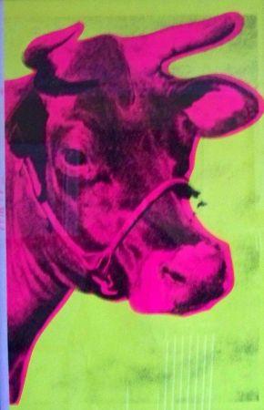 Screenprint Warhol - Cow yellow