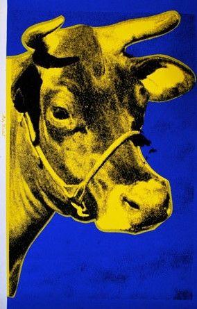 Screenprint Warhol - Cow (Yellow), 1971/89