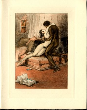 Illustrated Book Icart - CRÉBILLON, Fils : LE SOPHA.23 eaux-fortes originales en couleurs de Louis Icart.