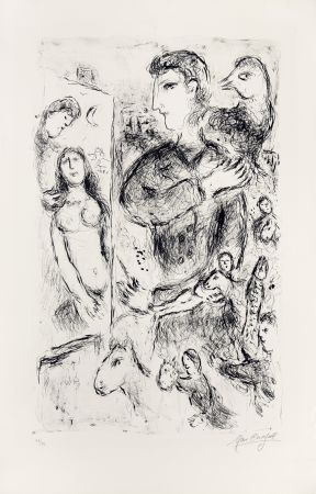 Lithograph Chagall - Création
