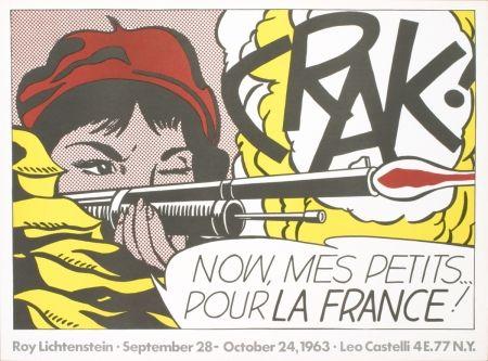 Lithograph Lichtenstein - CRAK