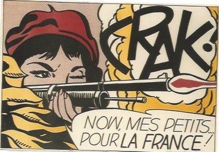 Lithograph Lichtenstein - CRAK! Now mes Petits ... pour la France!