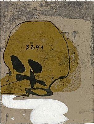 Etching And Aquatint Tàpies - Crani amb xifres