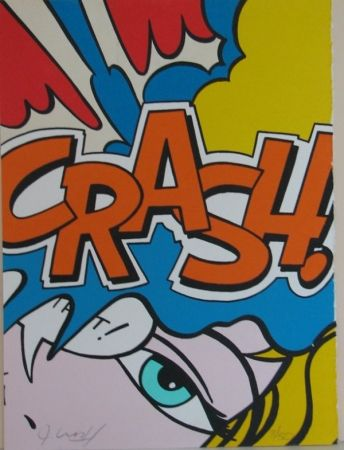 Lithograph Matos - Crash Orange