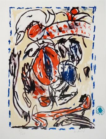 Lithograph Alechinsky - Crayon Sur Coquille - Cerclitude
