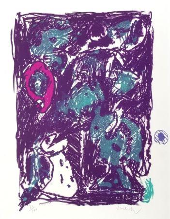 Lithograph Alechinsky - Crayon sur coquille - Le rare heureux