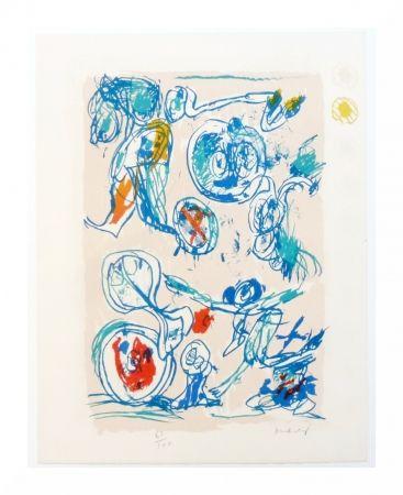 Lithograph Alechinsky - Crayon sur coquille - Ordre dispersé