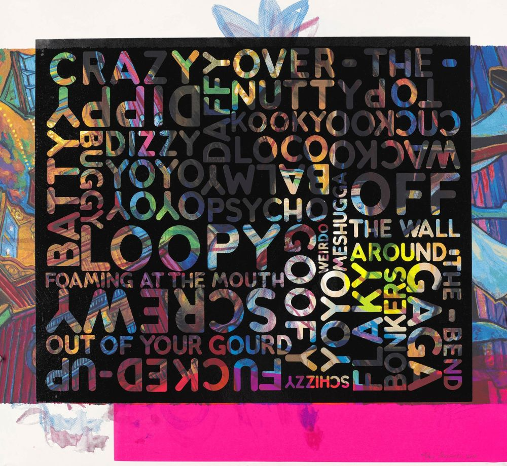 Screenprint Bochner - Crazy (With Background Noise)