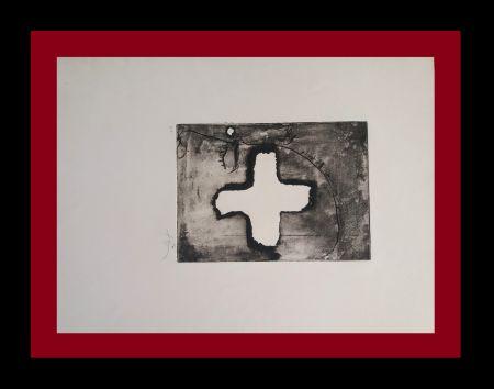 Etching Tàpies - Creu sobre cap