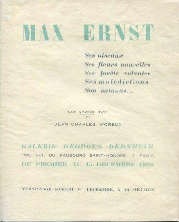 Illustrated Book Ernst - CREVEL (René). Max Ernst. Ses oiseaux, ses fleurs nouvelles, ses foêts volantes, ses malédictions, son satanas...
