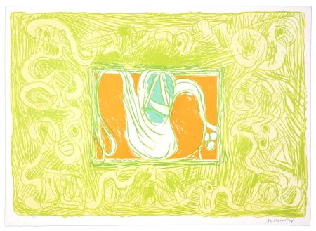 Lithograph Alechinsky - Crevette et salade