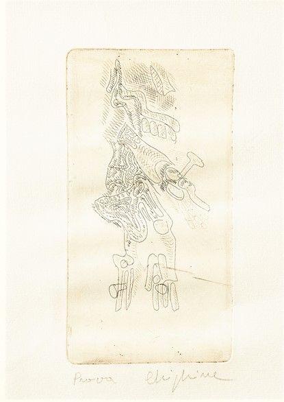 Engraving Chighine - Cristo