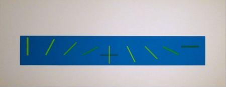 Screenprint Vieira - Croisement de directions opposées : 7 condictions de saturation chromatique