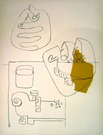 Lithograph Le Corbusier - Crossed Hands