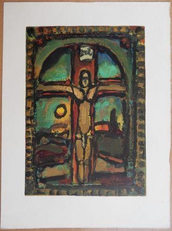 Woodcut Rouault - Crucifixion