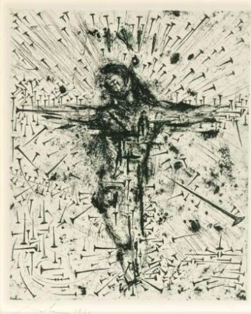 Engraving Dali - Crucifixion, from Apocalypse de Saint Jean