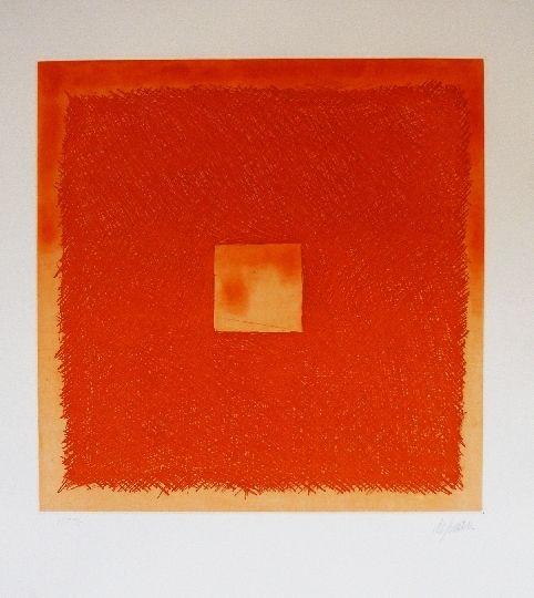 Etching And Aquatint De Juan - Cuadrado naranja