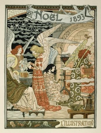 Lithograph Grasset - Cuisine des anges / Angels' Kitchen