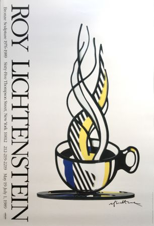 No Technical Lichtenstein - Cup and Saucer II (Hand Signed)