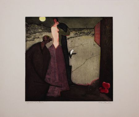 Etching And Aquatint Nieuwenhuys - Cyrano declare son amour