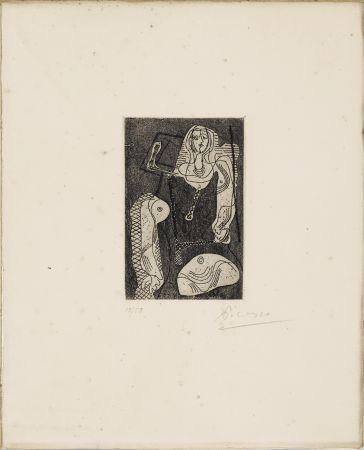 Engraving Picasso - C.Zervos. PICASSO ŒUVRES 1920-1926. Cahiers d'Art », 1926. 1/50 avec l'eau-forte originale signée.