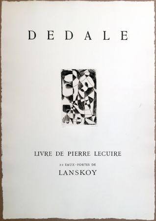 Etching Lanskoy - DÉDALE. Affiche originale gravée. Livre de Pierre Lecuire (1960)