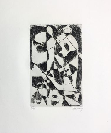 Engraving Lanskoy - DÉDALE. Gravure pour l'affiche de Pierre Lecuire (1960)