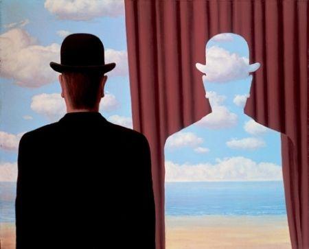 Lithograph Magritte - Décalcomanie