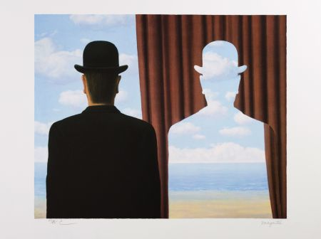 Lithograph Magritte - Décalcomanie (Decalcomania)