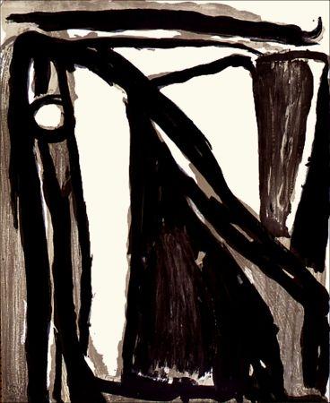 Lithograph Van Velde - Décantement