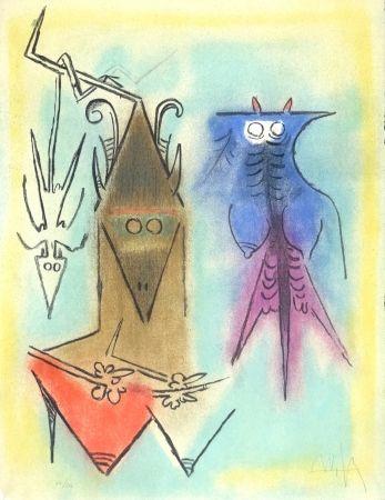 Lithograph Lam - Démons familiers