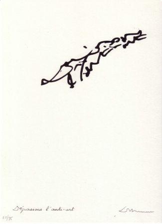 Lithograph Dotremont - Dépassons l'anti-art