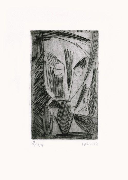 Engraving Jorn - Dépression soutenue (Occupations)