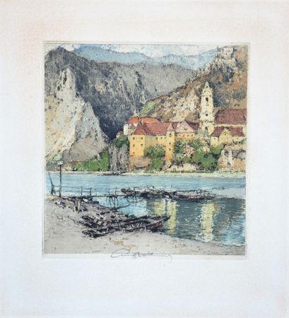 Aquatint Kasimir - Dürnstein an der Donau