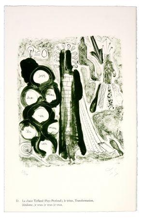 Lithograph Nørgaard - D. La chaise Tiefland (Pays profond), le trône, Transformation, idéalisme, je veux-je veux-je veux