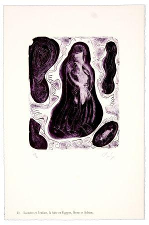 Lithograph Nørgaard - D. La mère et l'enfant, la fuite en Egypte, Sinne et Adrian